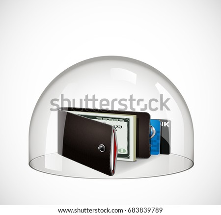 Glass dome - protection concept - wallet