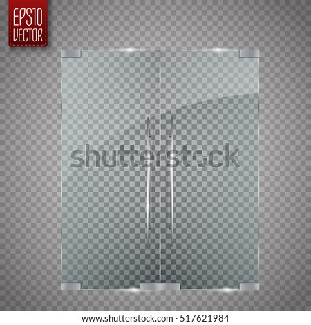 glass door isolated on