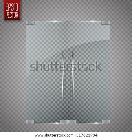 glass door isolated on