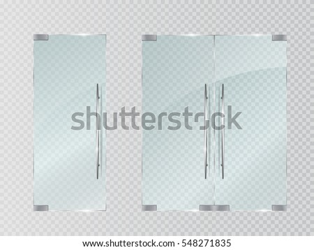 glass doors isolated on