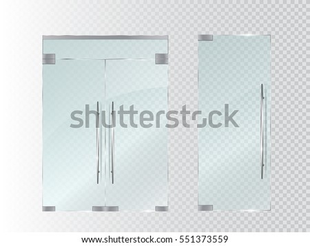 Shutterstock Glass doors isolated on transparent background. Vector illustration