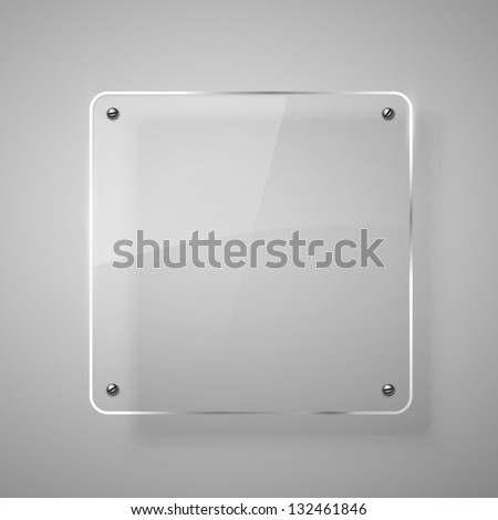 Glass framework. Vector illustration. Eps10 - stock vector