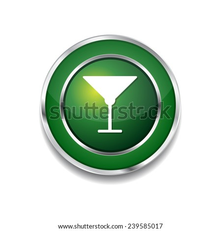 glass green vector icon button