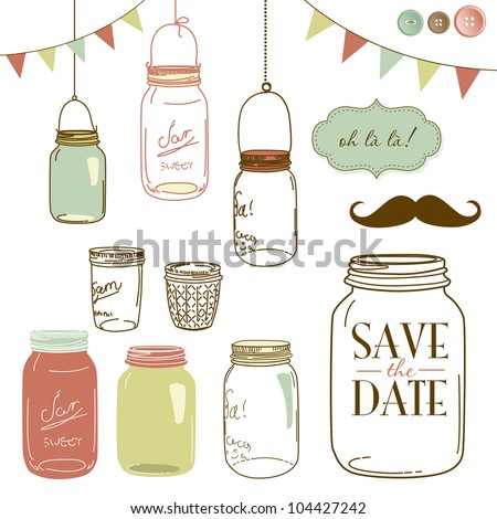 glass jars  frames and cute...