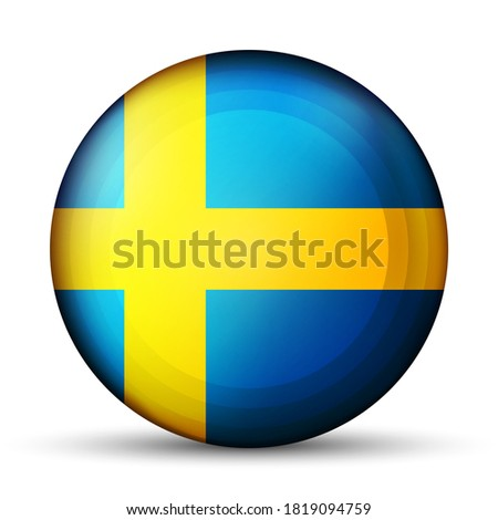 glass light ball with flag of