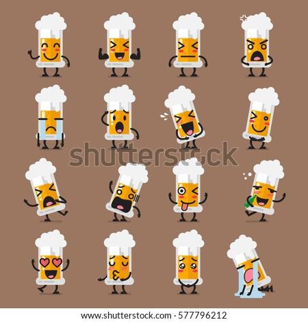 glass of beer character emoji