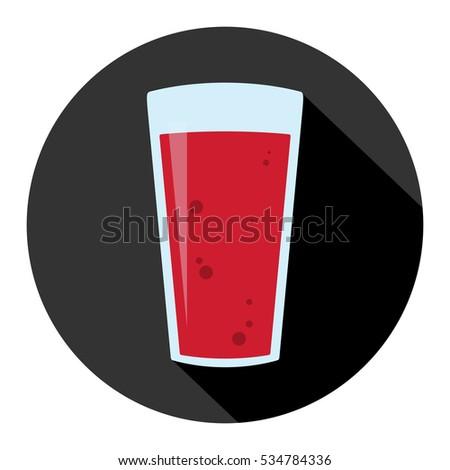 glass of blood icon flat