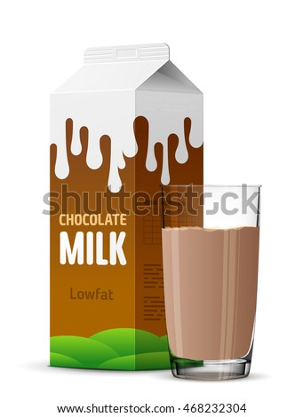 glass of chocolate milk with