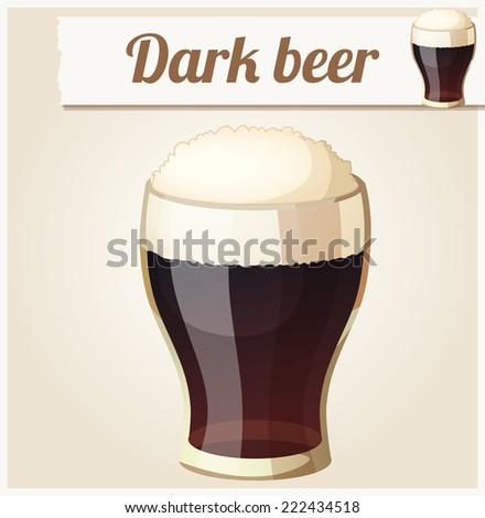 glass of dark beer detailed