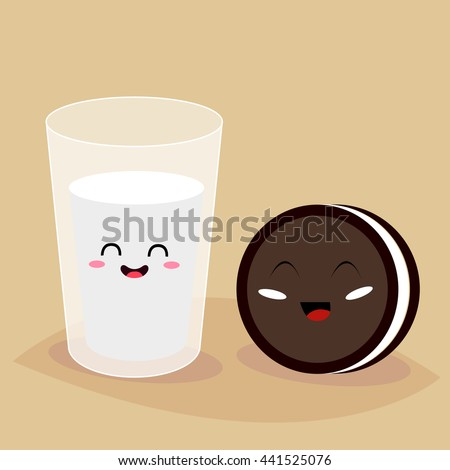 glass of milk and cookie