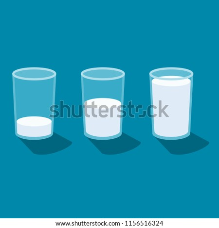 glass of milk icons vector.