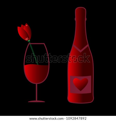 glass of red wine with