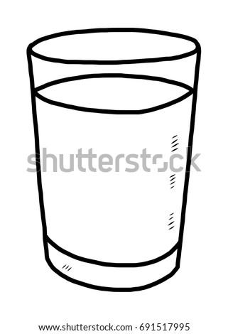 glass of water   cartoon vector