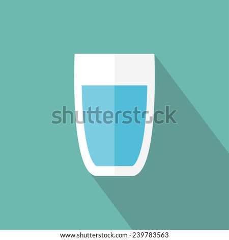 glass of water icon flat icon