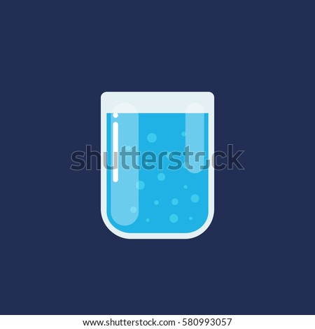 glass of water icon vector