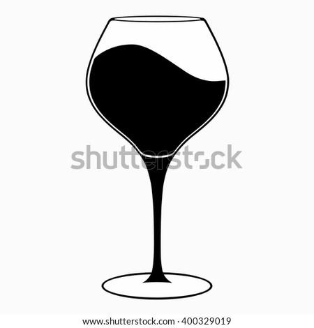 glass of wine  vector icon