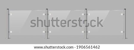 glass or plexiglass fence with