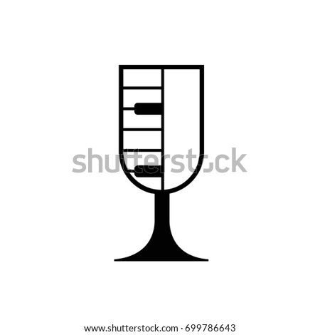 glass piano vector