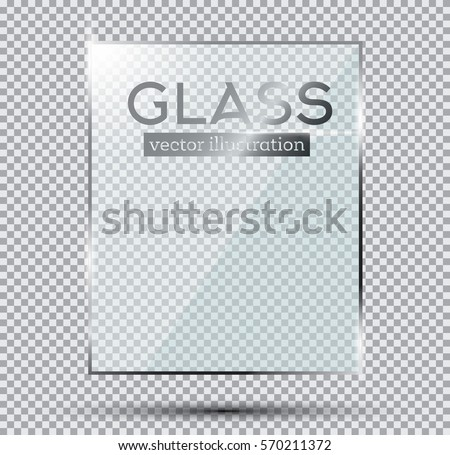 Glass Plate Isolated On Transparent Background. Vector Illustration.