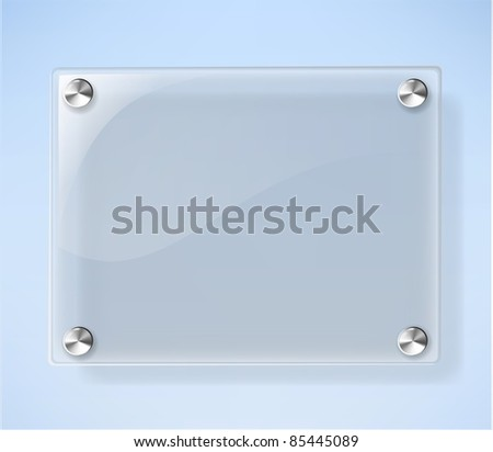 Glass Plate on White Background - stock vector