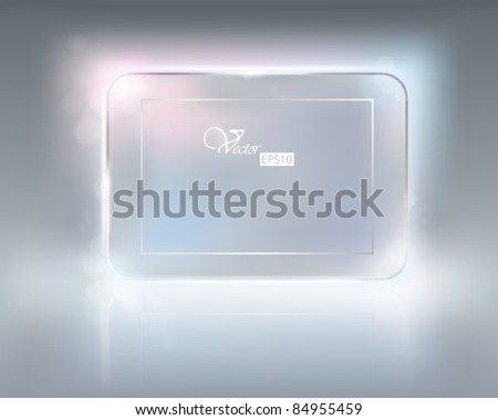 Glass plate. Vector illustration. - stock vector