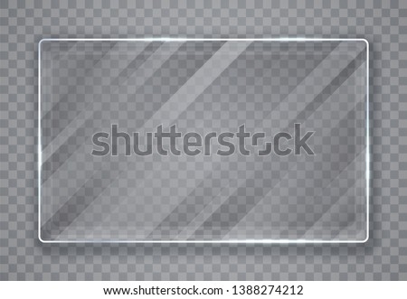 glass plates set glass banners