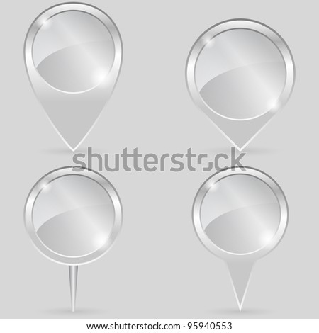 Glass Pointers, vector eps10 illustration