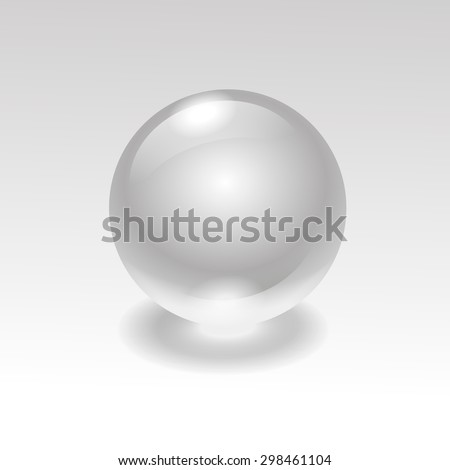 glass realistic water  sphere