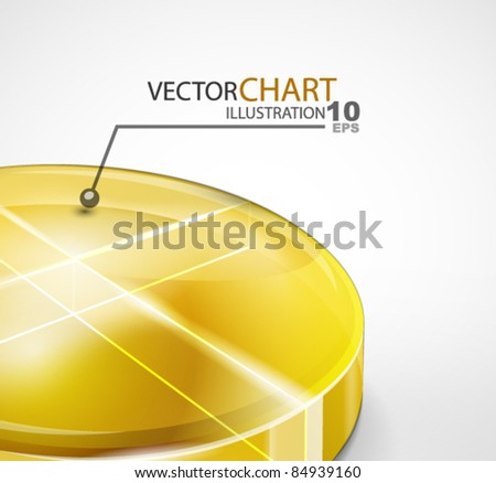 Glass round diagram. Abstract chart background
