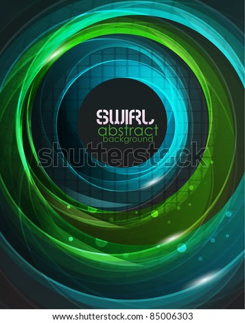 Glass round shapes on black. Abstract background