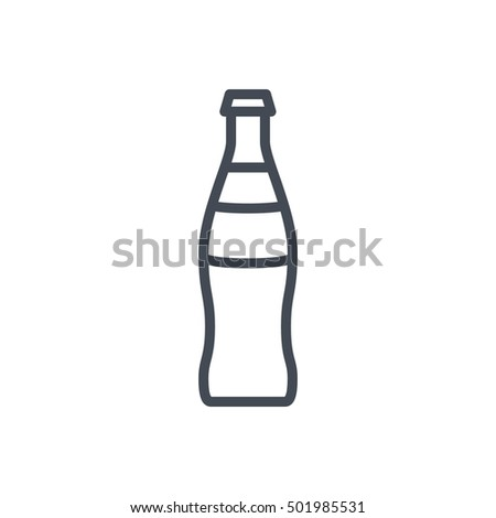 Glass Soda Icon Food Outlined Drink