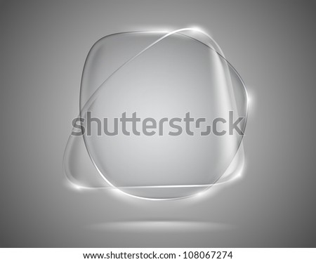 Glass speech bubbles with lightened edges