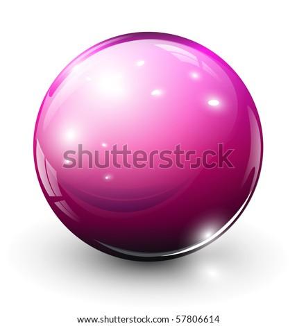 Glass sphere green, vector illustration.