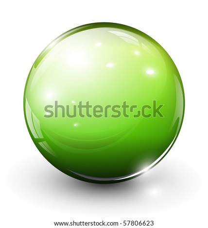 glass sphere green  vector
