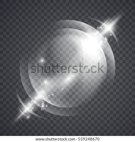 glass sphere of glowing lights