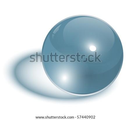 glass sphere transparent, vector illustration.