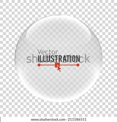 Glass sphere. Vector illustration.
