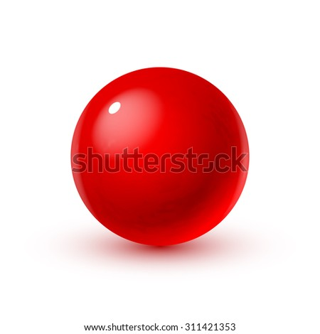 glass sphere with blood  game