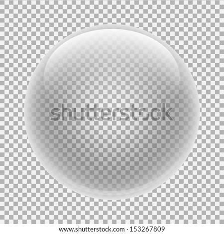glass sphere with transparency