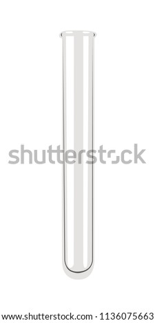 glass test tube realistic vector illustration isolated