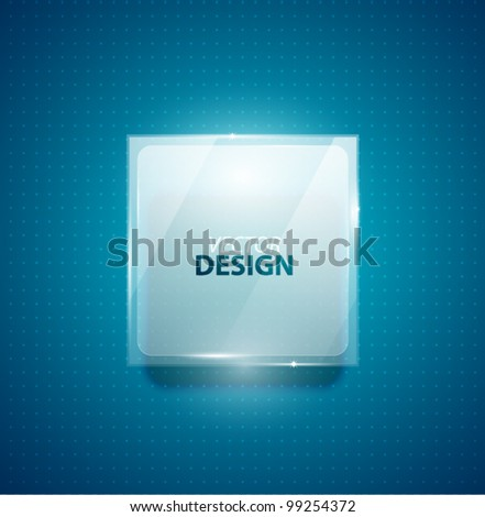Glass transparent ad square screen banner