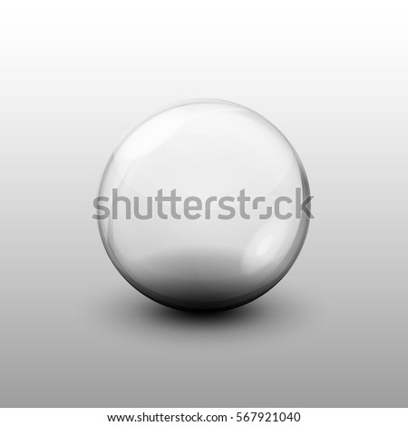glass transparent ball  vector