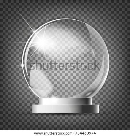glass trophy award vector