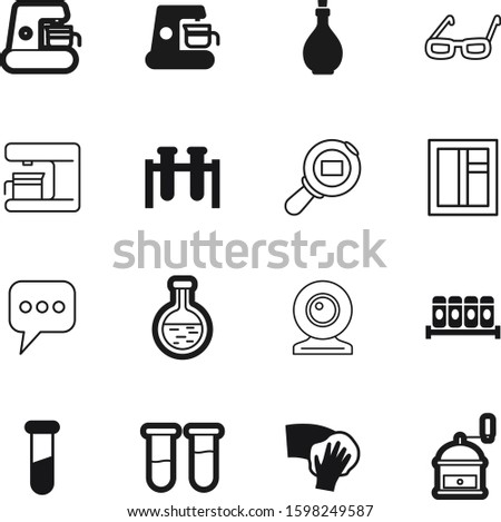 glass vector icon set such as: care, set, residential, service, button, dialog, eyeglasses, decorative, water, shipment, video, logistic, photo, message, objective, delivery, chatting, old, light