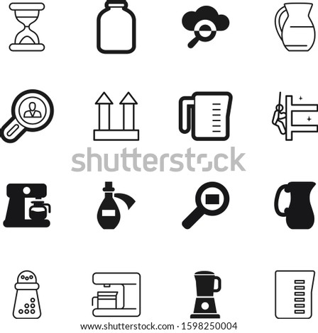glass vector icon set such as