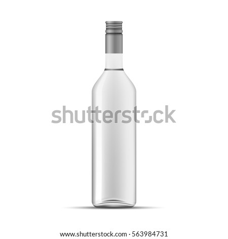 glass vodka bottle template