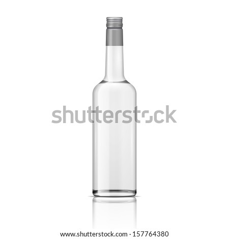 glass vodka bottle with screw