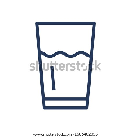 glass with drink  beverage line