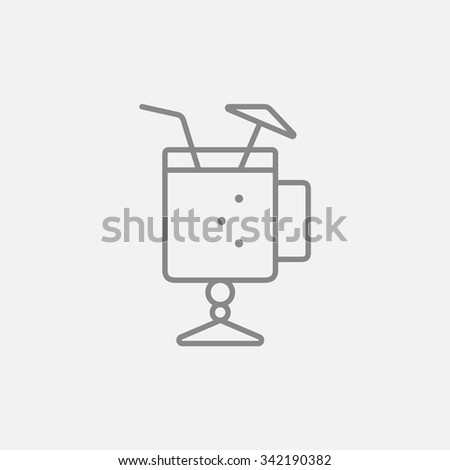 glass with drinking straw and