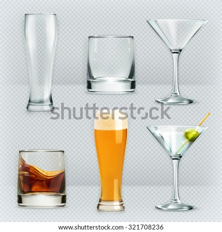 glasses  alcohol drink vector
